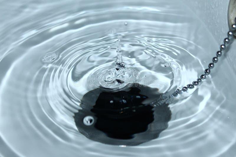Baisse de l'eau images libres de droits
