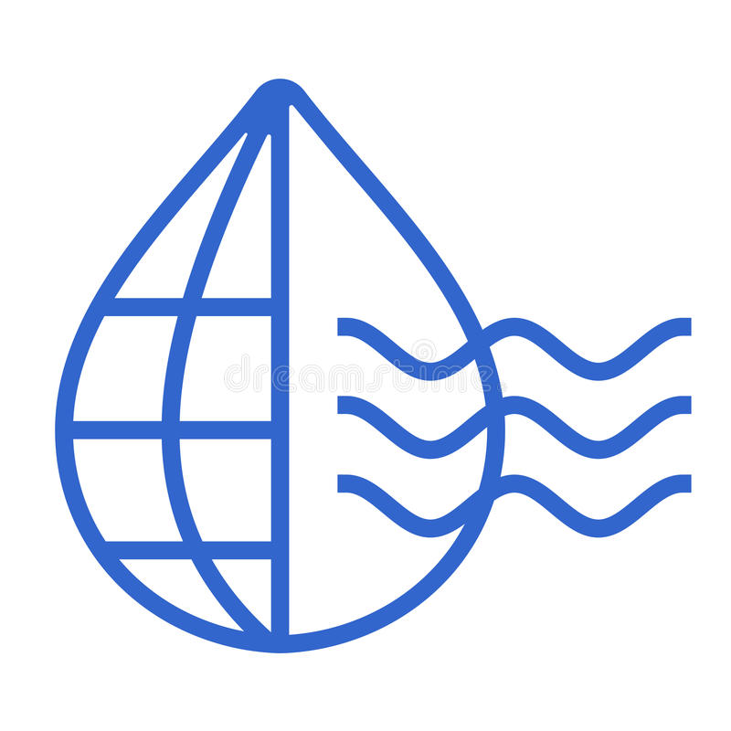Baisse de l'eau avec l'icône Logo Template du monde illustration libre de droits
