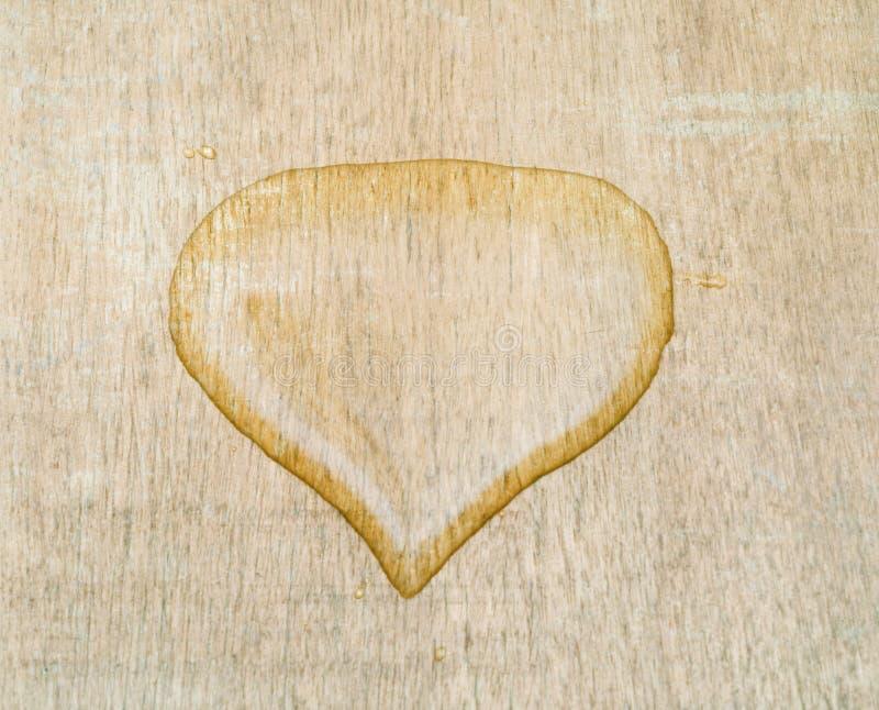 Baisse de l'eau de forme de coeur photos libres de droits