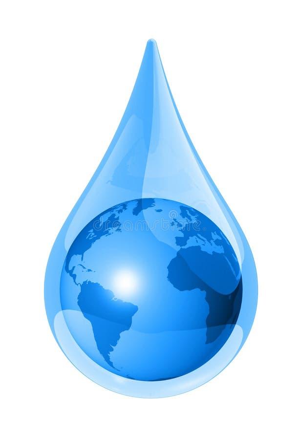 Baisse de l'eau de la terre