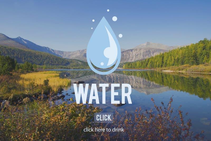 Baisse de l'eau réutilisant le concept d'écologie d'économies images stock
