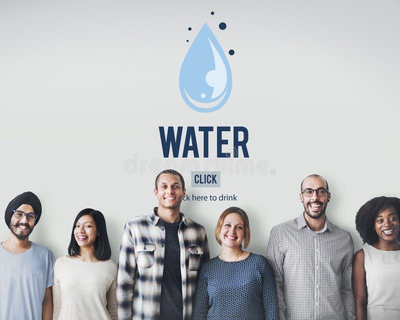 Baisse de l'eau réutilisant le concept d'écologie d'économies photo libre de droits