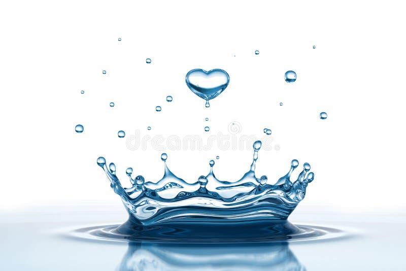 Baisse de l'eau sous la forme de coeur illustration libre de droits