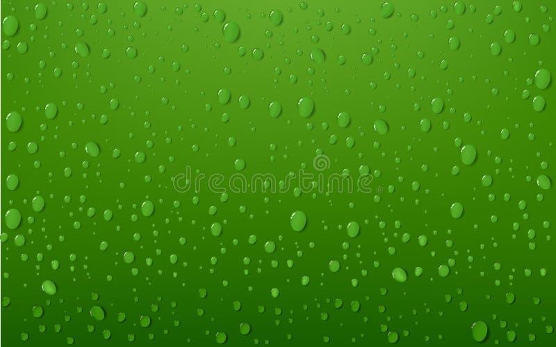 Baisse de l'eau sur le fond vert illustration libre de droits