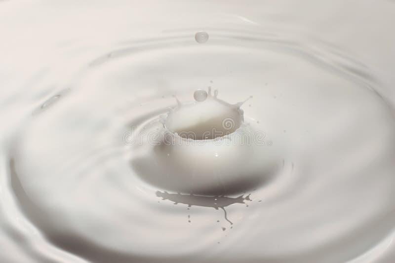Baisse de lait photo stock