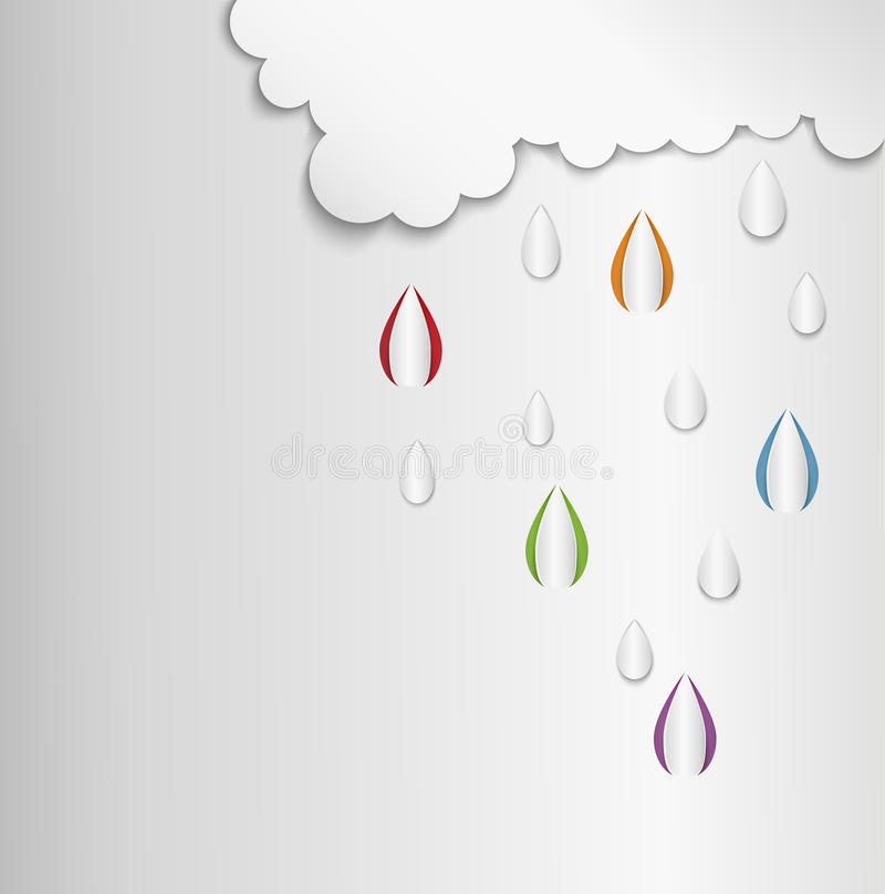 Baisse de nuage illustration stock