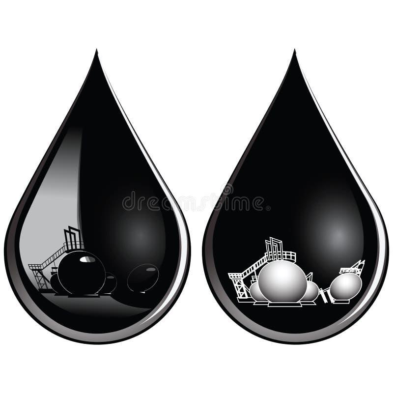 Baisse de pétrole illustration de vecteur