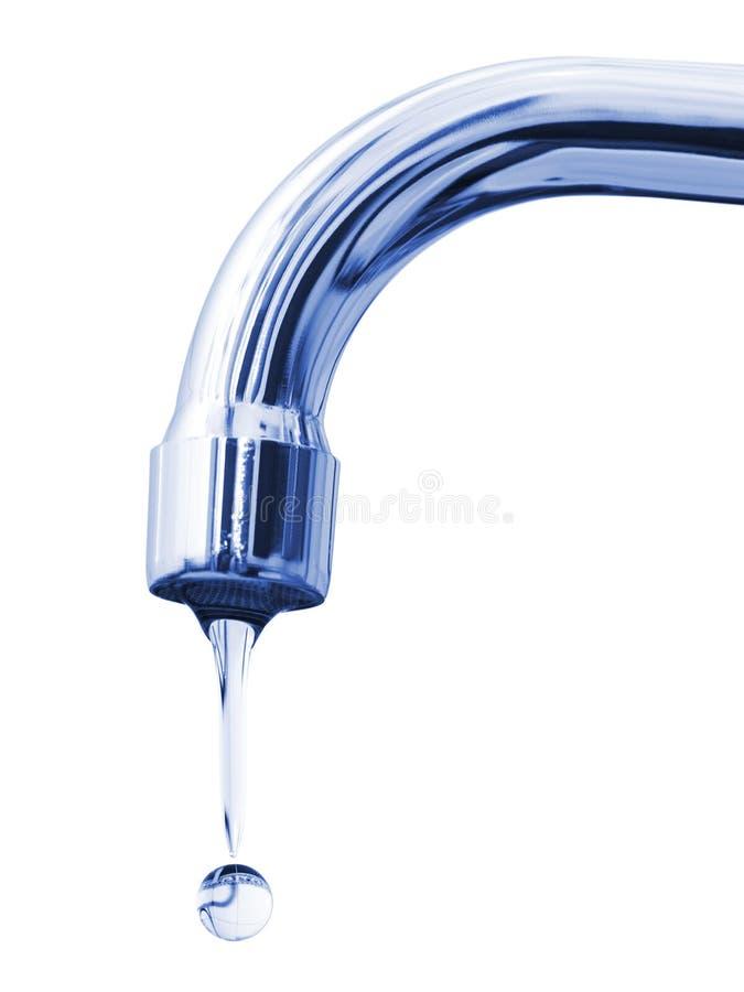 Baisse de robinet et d'eau images libres de droits