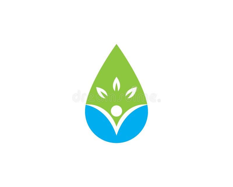 baisse Logo Templa de l'eau illustration libre de droits