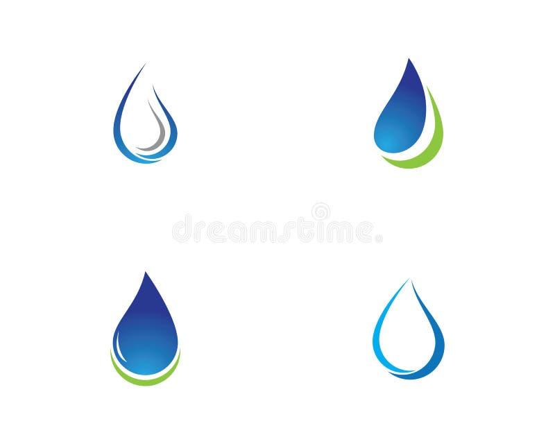 Baisse Logo Template de l'eau illustration libre de droits