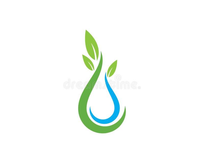Baisse Logo Template de l'eau illustration stock