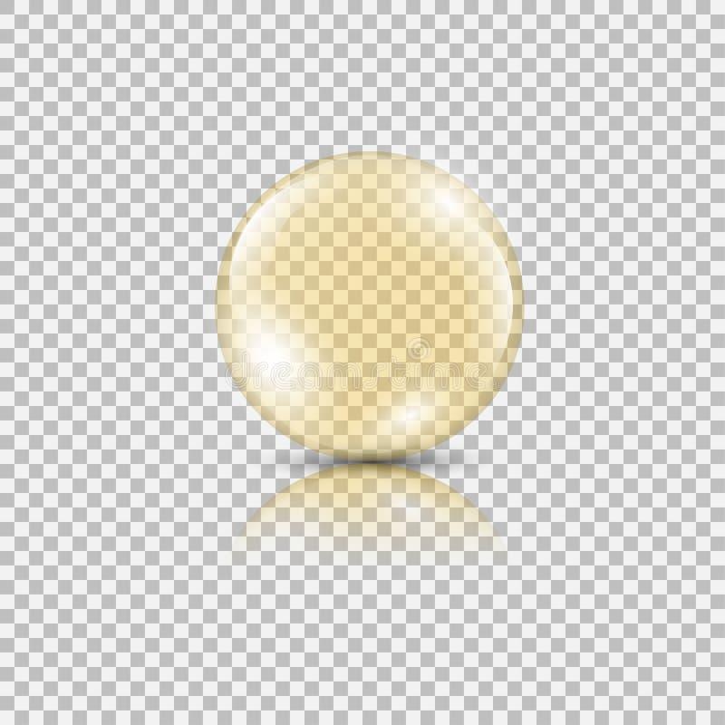 Baisse lumineuse d'or d'essence d'huile illustration libre de droits