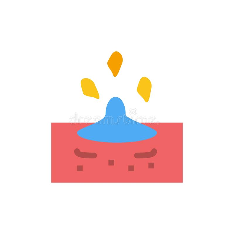 Baisse, pluie, pluvieuse, icône plate de couleur de l'eau Calibre de bannière d'icône de vecteur illustration libre de droits