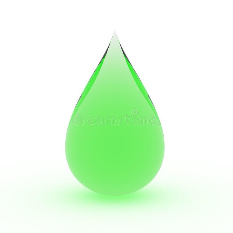baisse verte de pluie illustration libre de droits