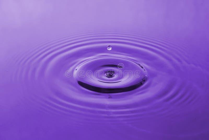 Baisse violette de l'eau photo stock