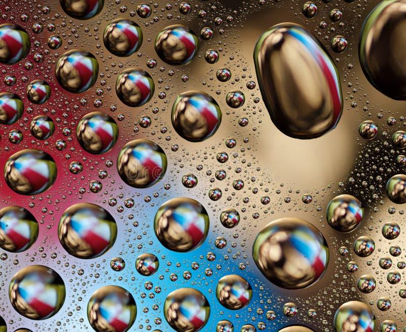 Baisses colorées de l'eau image libre de droits