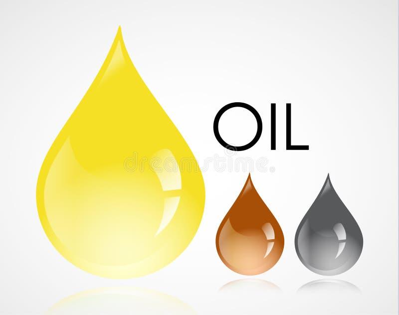 Baisses d'huile illustration stock