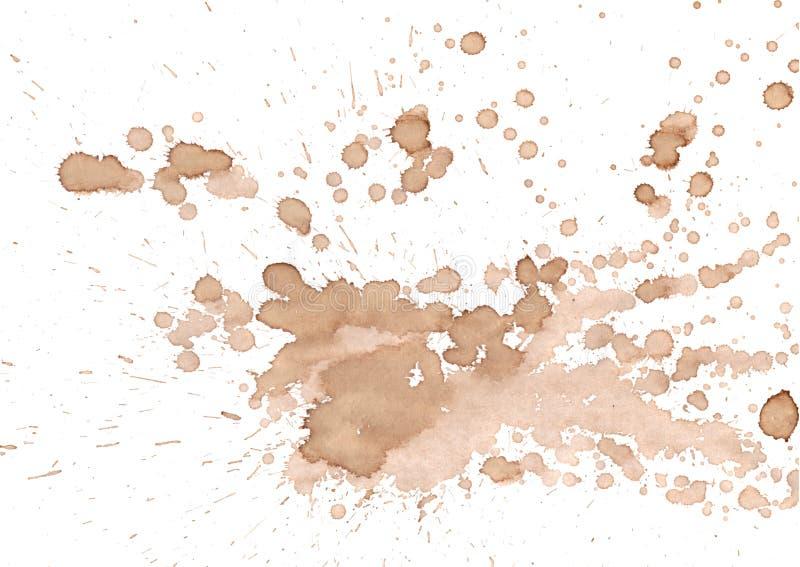 Baisses d'isolement par vin de café sur le fond blanc photo stock