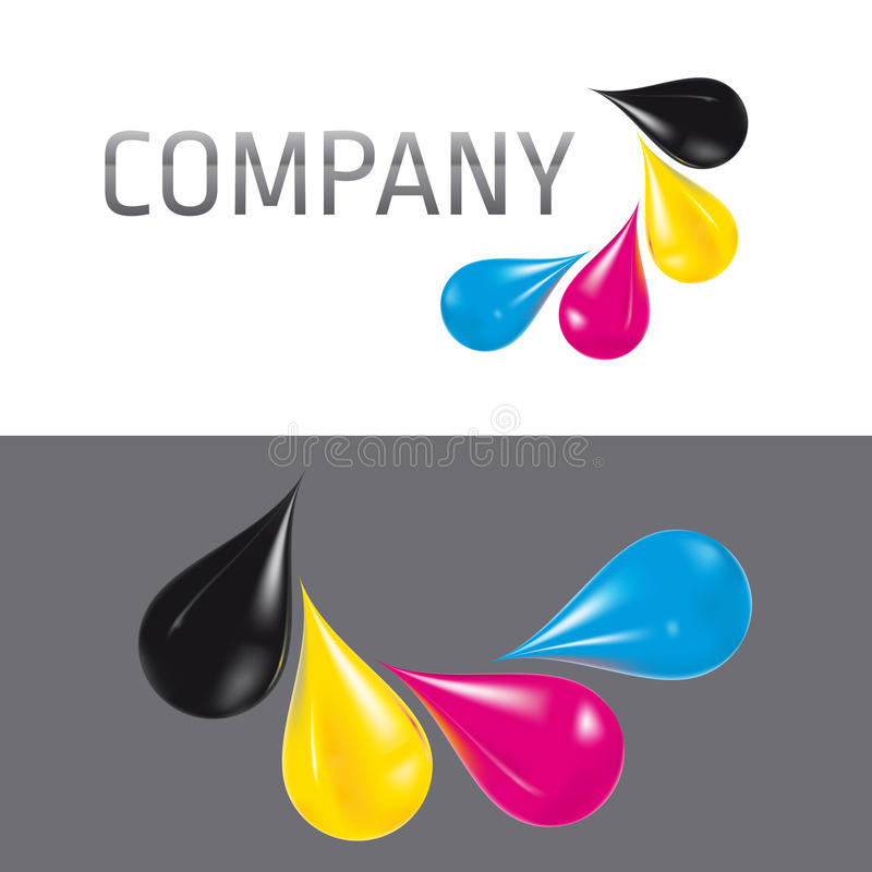 Baisses de Cmyk illustration stock