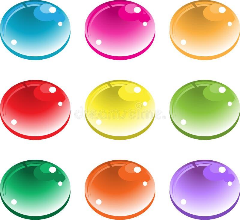 Baisses de couleur illustration de vecteur