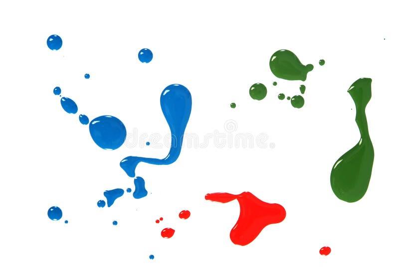 Baisses de couleur image stock
