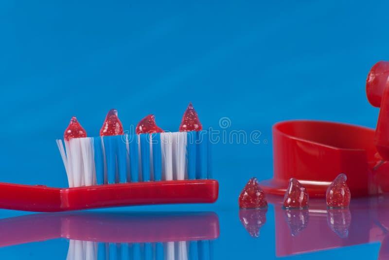 Baisses de pâte dentifrice image libre de droits
