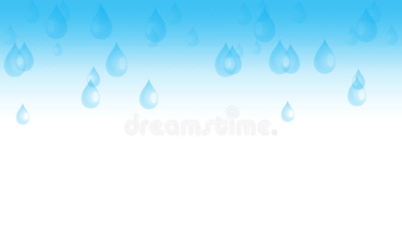 Baisses de pluie illustration de vecteur