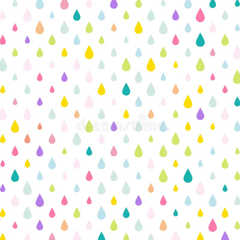 Baisses de pluie de baisses d'Unicorn Tears/eau illustration libre de droits