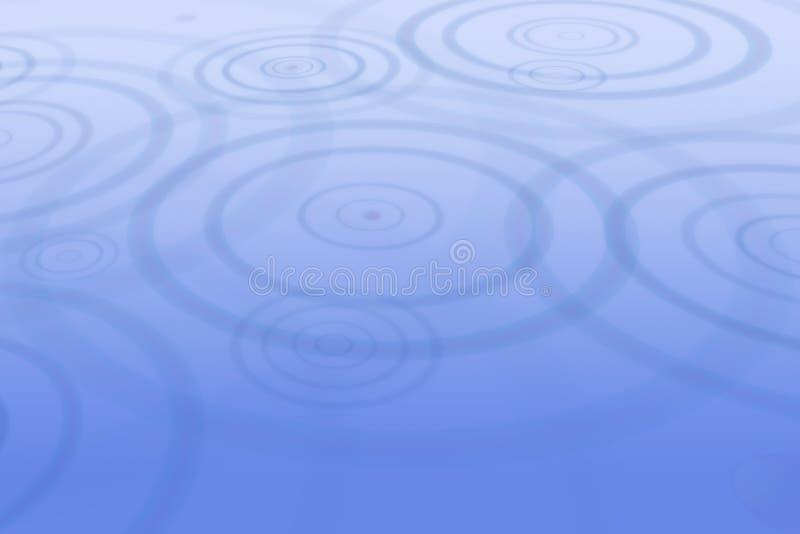 Baisses de pluie produisant des ondulations dans l'eau illustration de vecteur