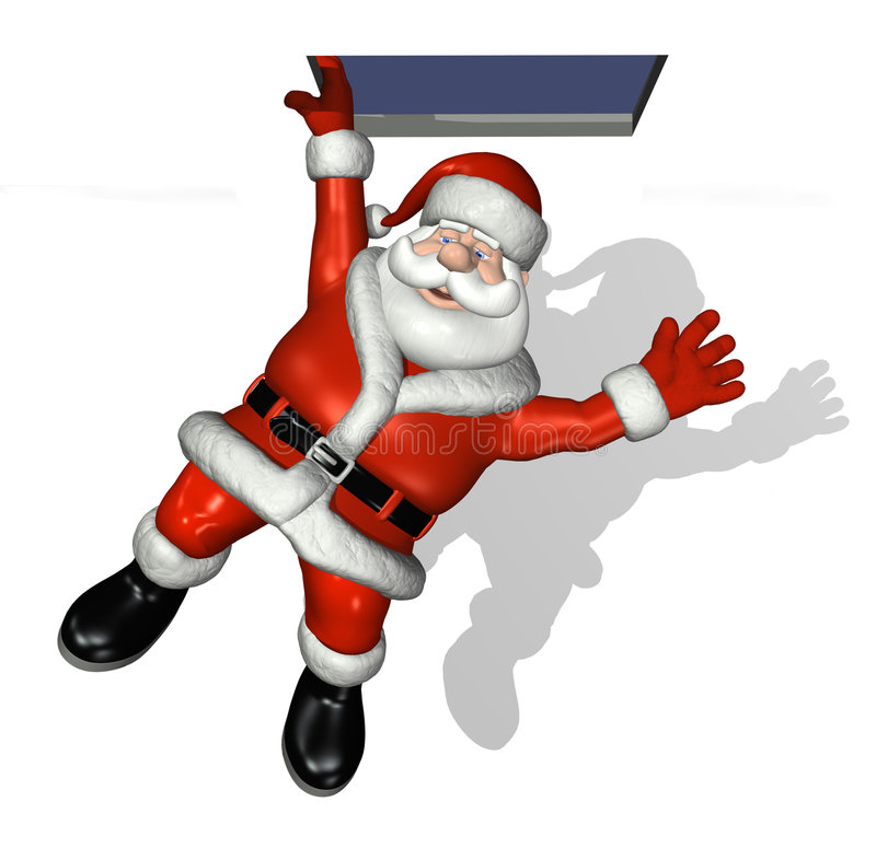 Baisses de Santa près illustration stock