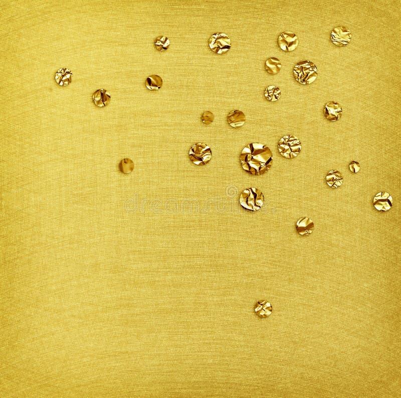 Baisses de texture balayées par acier et d'aluminium d'or photo libre de droits