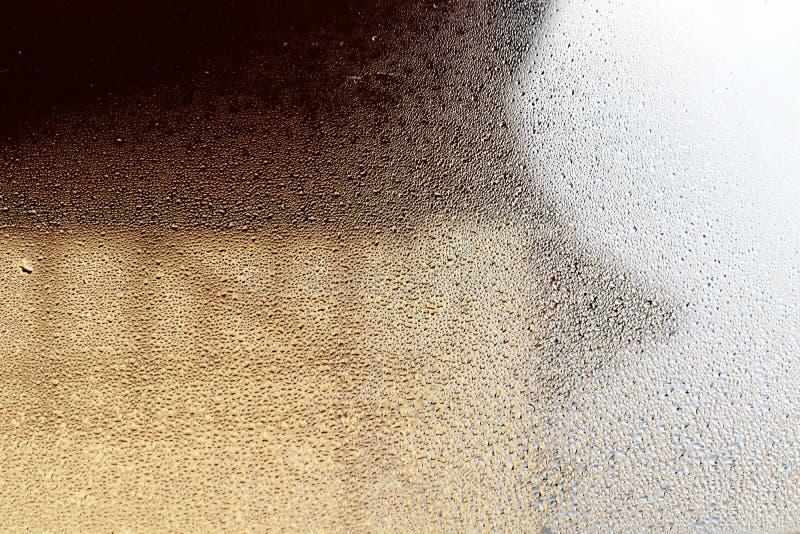 Baisses en verre de condensation image stock