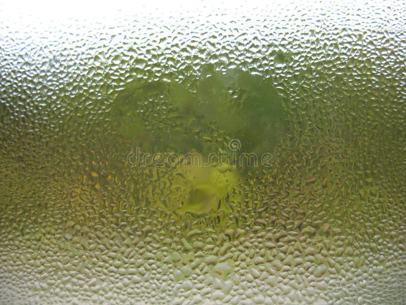 Baisses en verre et de pluie d'hublot photographie stock libre de droits