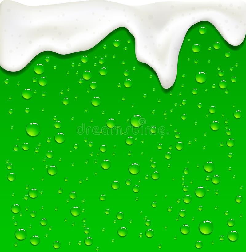 Baisses vertes de bière illustration stock