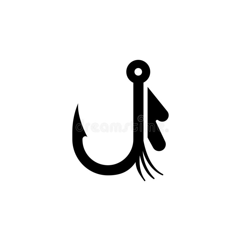 Bait Fishhook, Fishing Hook Vector Icon royalty free illustration