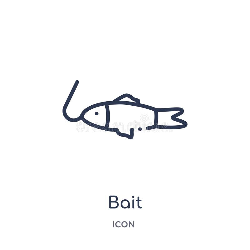 Bait icon from nautical outline collection. Thin line bait icon isolated on white background vector illustration