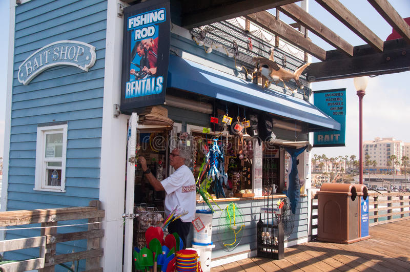 Bait Shop on the Pier royalty free stock image