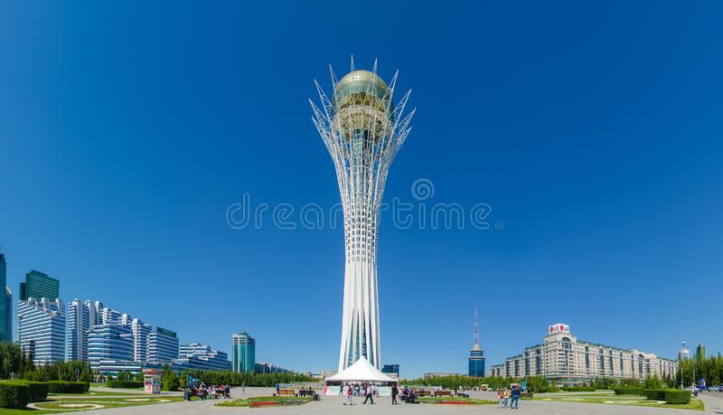 Baiterek monument, Nur-Sultan Astana royaltyfria bilder