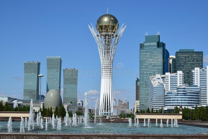 BAITEREK wierza w Astana zdjęcia royalty free