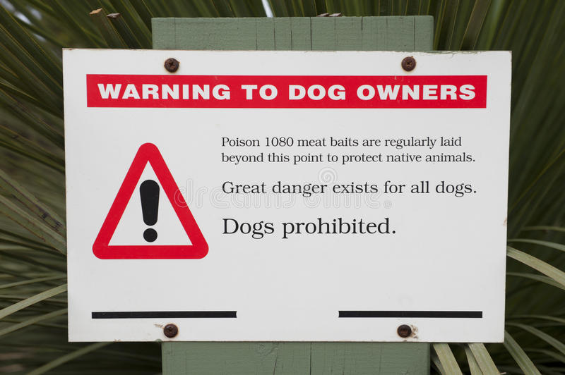 Download Baiting warning sign stock photo. Image of poison, animals - 35006988