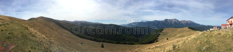 Baiului mountains panorama, Romania. The Baiu Mountains are mountains in central Romania, a few kilometers south of BraÈ™ov royalty free stock image