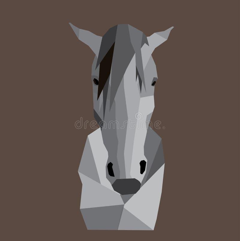 Baixa cabeça de cavalo poli do efeito fotografia de stock royalty free