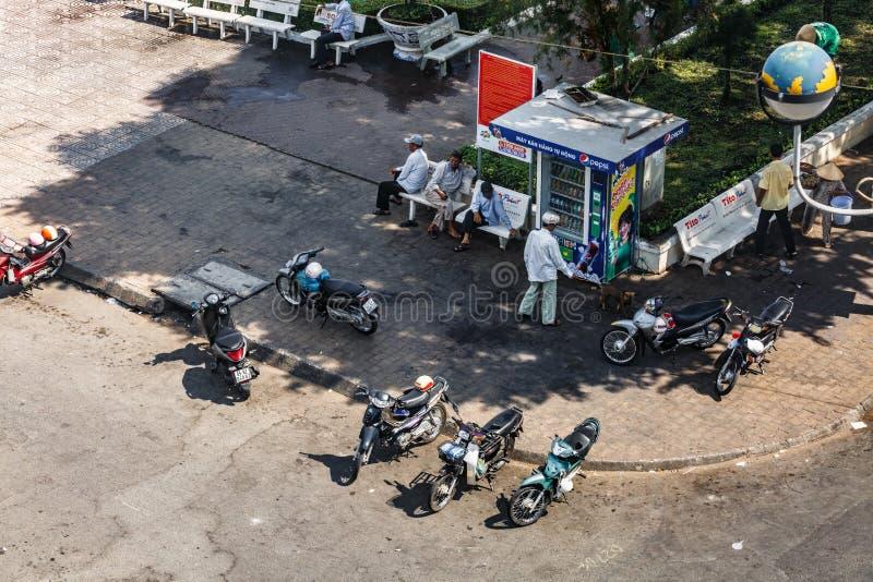 Baixa da cidade de Can Tho, delta de Mekong, Vietname fotos de stock