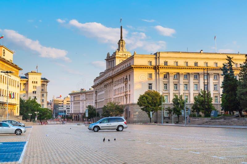Baixa da cidade de Sófia, capital de Bulgária imagem de stock royalty free