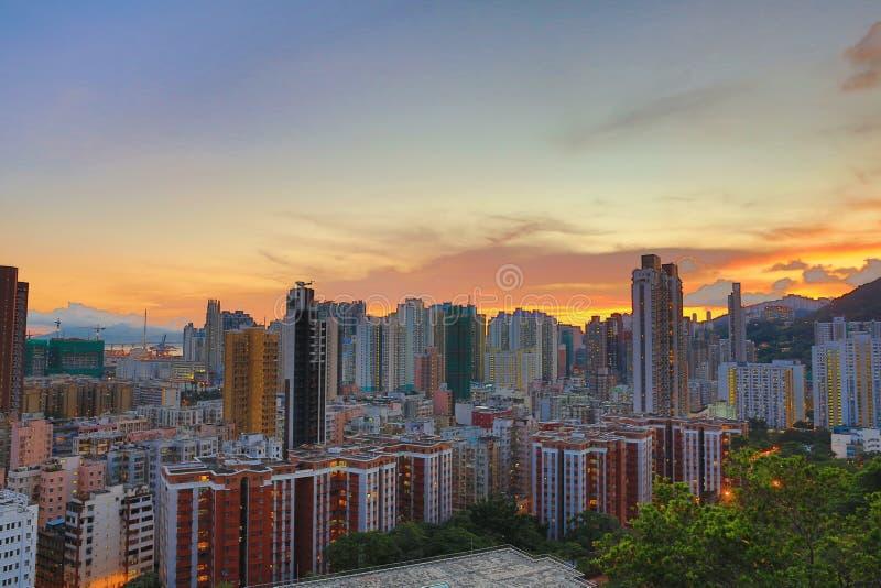 Baixa de Hong Kong, alto-densidade, área deficiente foto de stock