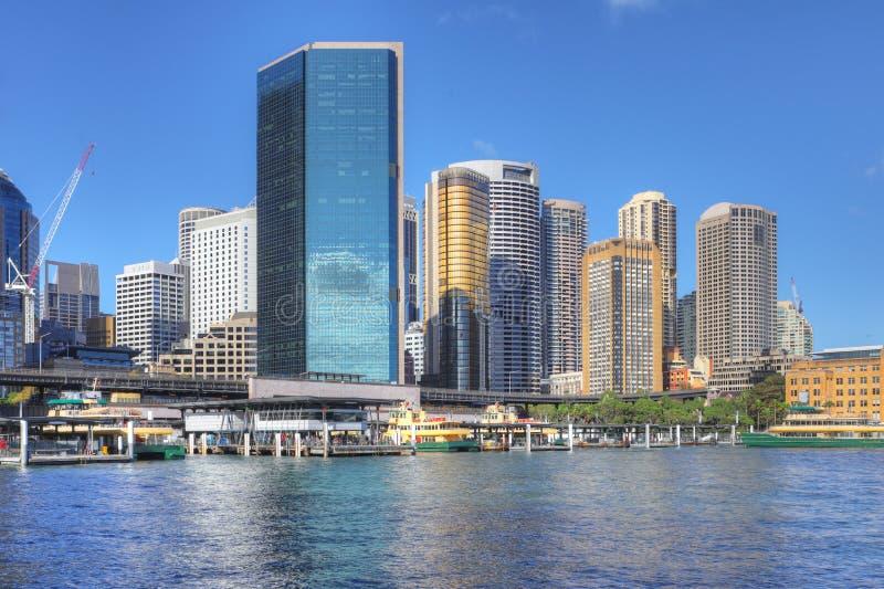 Baixa de Sydney, Austrália no dia bonito foto de stock royalty free