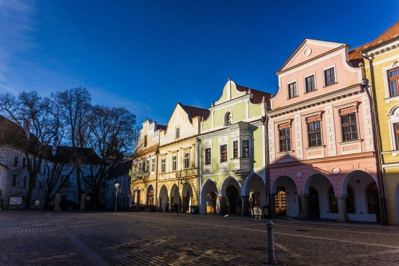 Baixa em Trebon, República Checa fotos de stock royalty free