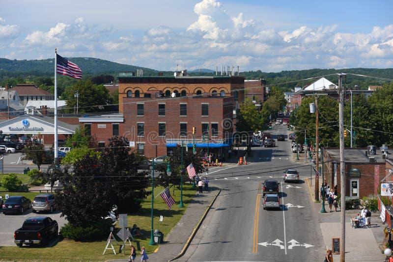 Baixa histórica de Rockland, Rockland, Maine fotografia de stock royalty free