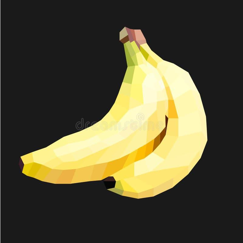 Baixa ilustração poli da banana ilustração do vetor