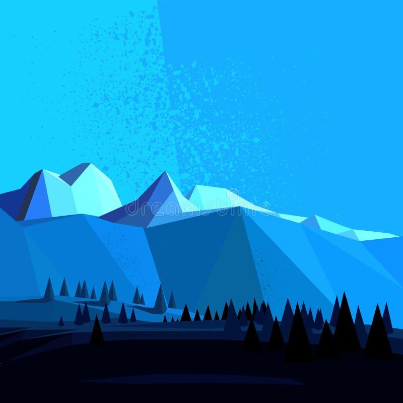 Baixa montanha poli do vetor ilustração do vetor